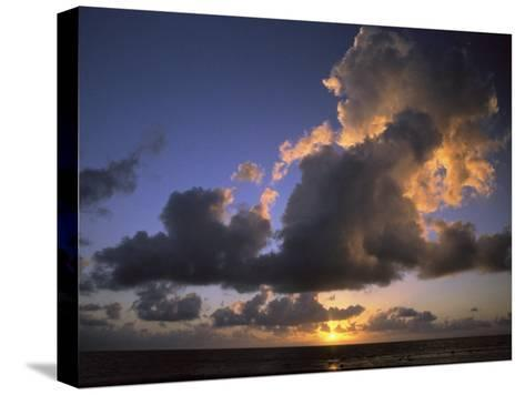 Sunset Near Silk Cay, Belize-Ed George-Stretched Canvas Print