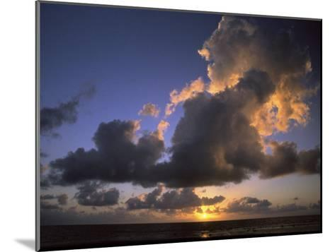 Sunset Near Silk Cay, Belize-Ed George-Mounted Photographic Print