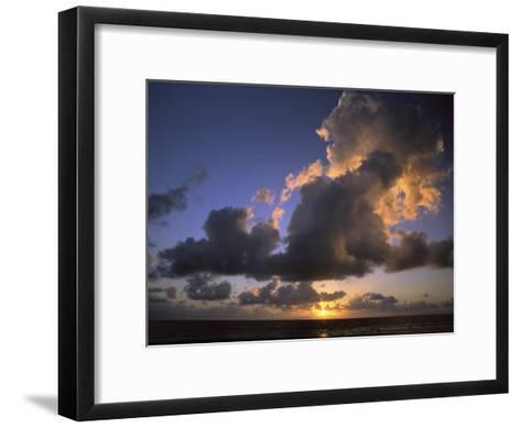 Sunset Near Silk Cay, Belize-Ed George-Framed Art Print