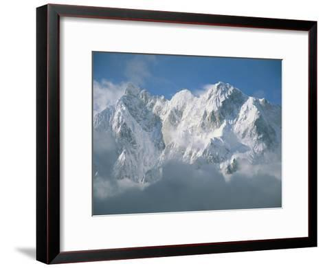 View of the Karakoram Ranges Snow-Covered K6 after a Storm-Jimmy Chin-Framed Art Print
