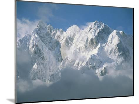 View of the Karakoram Ranges Snow-Covered K6 after a Storm-Jimmy Chin-Mounted Photographic Print