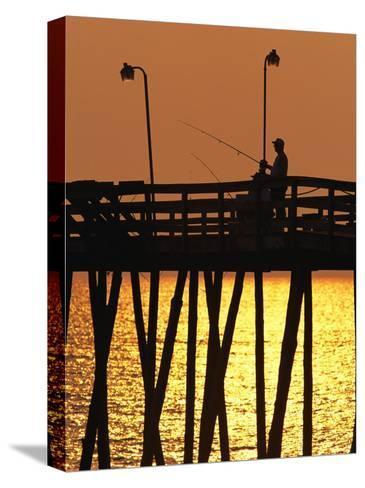Fishing Pier at Rodanthe, North Carolina-Steve Winter-Stretched Canvas Print