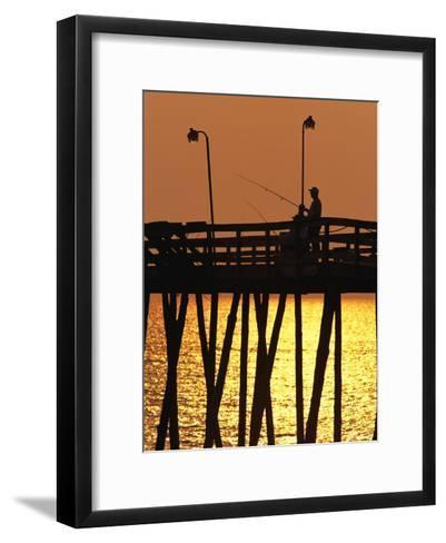 Fishing Pier at Rodanthe, North Carolina-Steve Winter-Framed Art Print