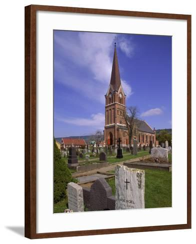 Church and Cemetery, Lillehammer, Norway-John Connell-Framed Art Print