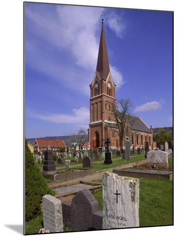 Church and Cemetery, Lillehammer, Norway-John Connell-Mounted Photographic Print