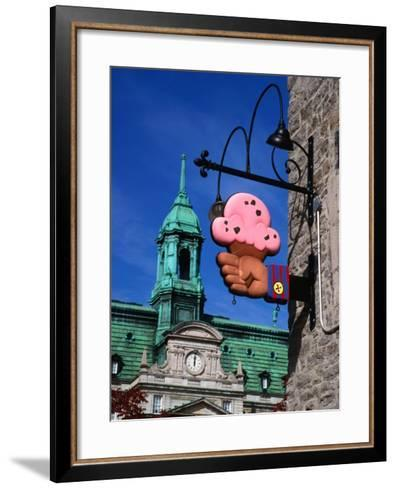 Feature of Building, Montreal, Canada-Wayne Walton-Framed Art Print