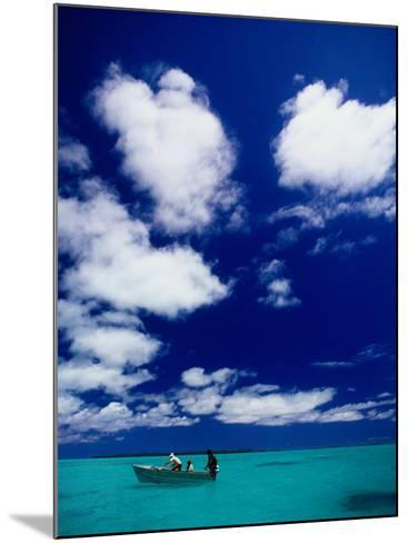 Tourists in Boat on Aitutaki Lagoon, Cook Islands, Pacific-Dallas Stribley-Mounted Photographic Print