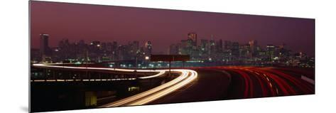 Freeway with the City in the Background, San Francisco, California, USA-Thomas Winz-Mounted Photographic Print