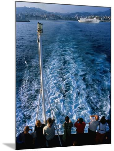 Passengers on Deck of Ferry Travelling from Sardinia to Genova, Sardinia, Italy-Dallas Stribley-Mounted Photographic Print