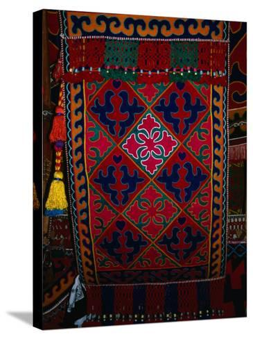 Textile decoration, Kyrgyzstan-Martin Moos-Stretched Canvas Print