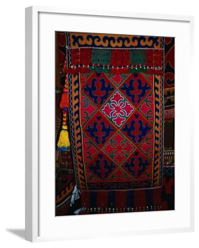 Textile decoration, Kyrgyzstan-Martin Moos-Framed Art Print