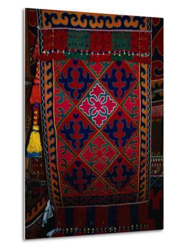 Textile decoration, Kyrgyzstan-Martin Moos-Metal Print