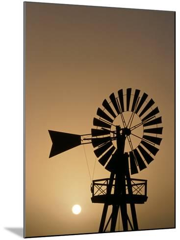 Windmill at Sunset, Isla De Lanzarote, Canary Islands, Spain-Paul Kennedy-Mounted Photographic Print