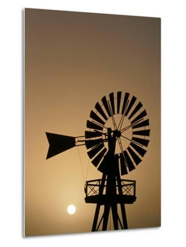 Windmill at Sunset, Isla De Lanzarote, Canary Islands, Spain-Paul Kennedy-Metal Print