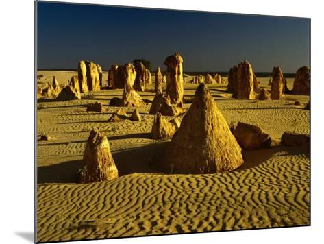 Rock Formations in the Sand of the Pinnacles Desert, Nambung National Park, Western Australia-Richard I'Anson-Mounted Photographic Print