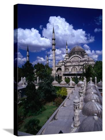 Roof of Suleymaniye Mosque, Istanbul, Turkey-Izzet Keribar-Stretched Canvas Print
