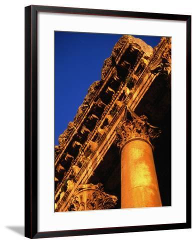 Detail of Columns and Entablature, Baalbek, Lebanon-Bethune Carmichael-Framed Art Print