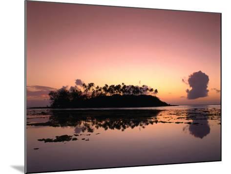 Dawn Sky Over Motu Taakoka, Mirrored in Waters of Muri Lagoon, Muri, Cook Islands-Manfred Gottschalk-Mounted Photographic Print
