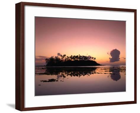 Dawn Sky Over Motu Taakoka, Mirrored in Waters of Muri Lagoon, Muri, Cook Islands-Manfred Gottschalk-Framed Art Print