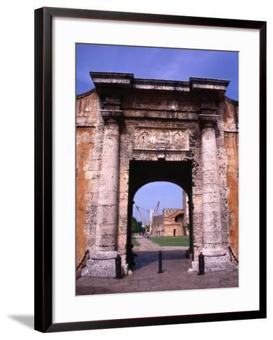 The Gate to the Fort Fortaleza De Ozama, Santo Domingo, Dominican Republic-Alfredo Maiquez-Framed Art Print