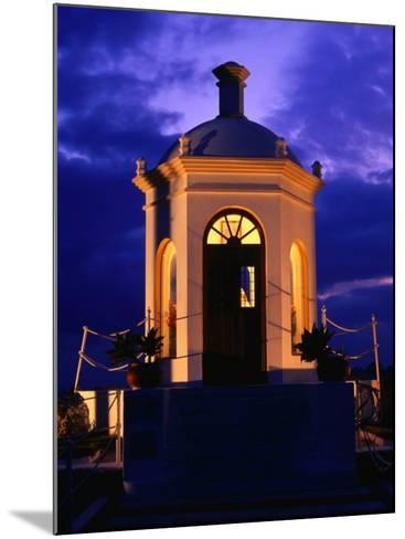 Harbourside Shrine at Puerto Banus Illuminated Against the Evening Sky, Marbella, Andalucia, Spain-David Tomlinson-Mounted Photographic Print