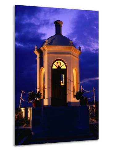 Harbourside Shrine at Puerto Banus Illuminated Against the Evening Sky, Marbella, Andalucia, Spain-David Tomlinson-Metal Print