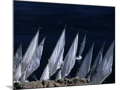 Fellucas Sailing, Aswan, Egypt-Izzet Keribar-Mounted Photographic Print
