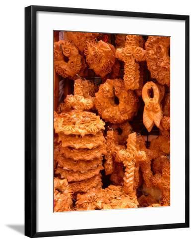 Decorative Wedding Bread for Sale, Hania, Crete, Greece-Diana Mayfield-Framed Art Print