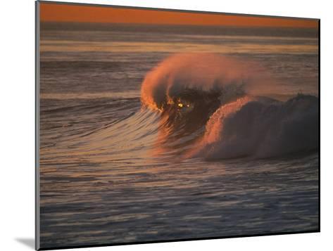 Breaking Surf at Sunset in La Jolla-Tim Laman-Mounted Photographic Print