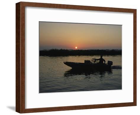 Crabbing off Delacroix Island at Sunrise-Medford Taylor-Framed Art Print