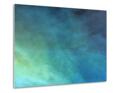 Colored Lights Illuminate a Lake, Reed Flute Cave, Guilin-Raymond Gehman-Metal Print