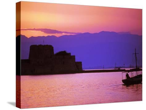 Bourtzi, Peloponnesos, Greece-Walter Bibikow-Stretched Canvas Print
