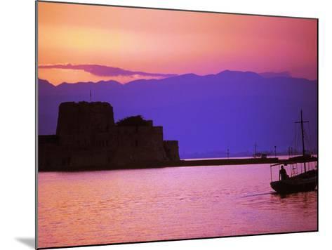 Bourtzi, Peloponnesos, Greece-Walter Bibikow-Mounted Photographic Print