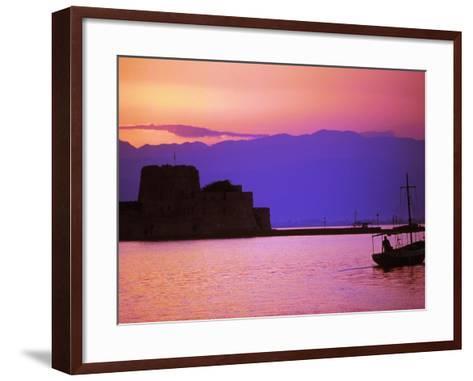 Bourtzi, Peloponnesos, Greece-Walter Bibikow-Framed Art Print