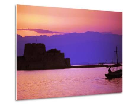 Bourtzi, Peloponnesos, Greece-Walter Bibikow-Metal Print