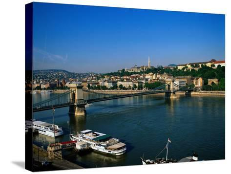 Danube, Budapest, Hungary-David Ball-Stretched Canvas Print