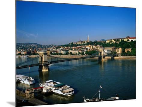 Danube, Budapest, Hungary-David Ball-Mounted Photographic Print