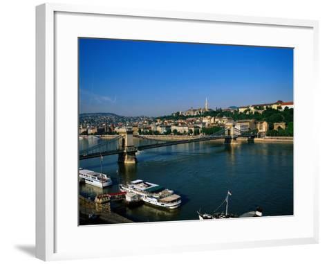 Danube, Budapest, Hungary-David Ball-Framed Art Print