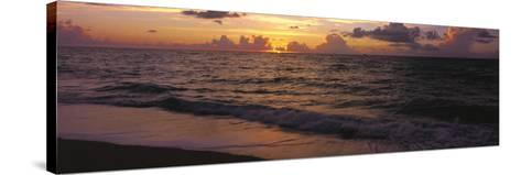 Surf at Sunrise, Miami Beach, FL-Jeff Greenberg-Stretched Canvas Print