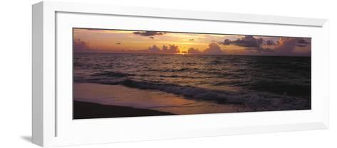 Surf at Sunrise, Miami Beach, FL-Jeff Greenberg-Framed Art Print