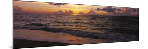 Surf at Sunrise, Miami Beach, FL-Jeff Greenberg-Mounted Photographic Print