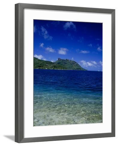 Green and Blue Waters, Verdant Hills-Barry Winiker-Framed Art Print