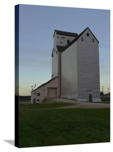 White Barn, Manitoba Prairie-Keith Levit-Stretched Canvas Print