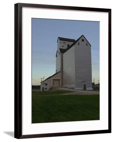 White Barn, Manitoba Prairie-Keith Levit-Framed Art Print