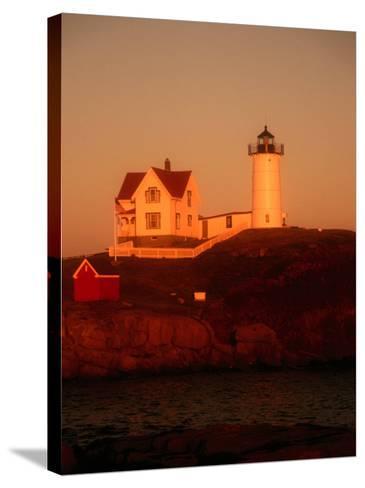 Museum and Portland Head Light House at Cape Elizabeth, Portland, Maine, Portland, USA-Mark Newman-Stretched Canvas Print