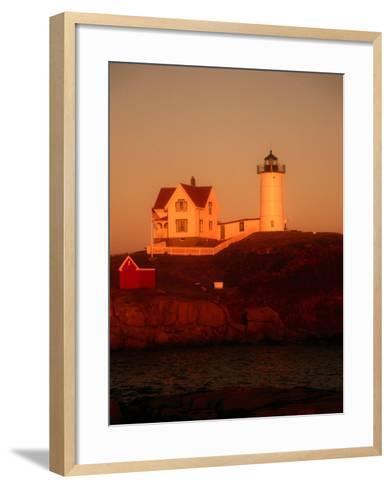 Museum and Portland Head Light House at Cape Elizabeth, Portland, Maine, Portland, USA-Mark Newman-Framed Art Print