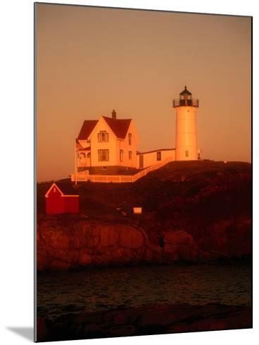 Museum and Portland Head Light House at Cape Elizabeth, Portland, Maine, Portland, USA-Mark Newman-Mounted Photographic Print