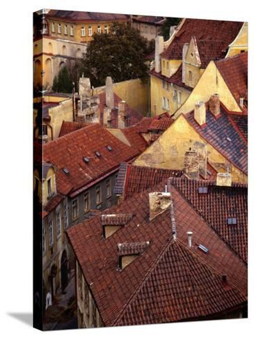 Rooftops of Houses, Prague, Czech Republic-Rick Gerharter-Stretched Canvas Print