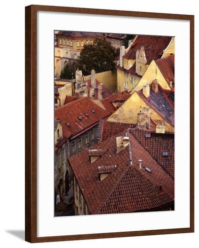 Rooftops of Houses, Prague, Czech Republic-Rick Gerharter-Framed Art Print