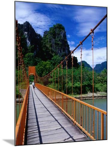 Footbridge Over Nam Sot River, Vang Vieng, Laos-Ryan Fox-Mounted Photographic Print
